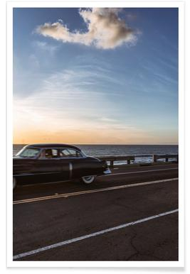 Cadillac Sunset Cruise II Plakat
