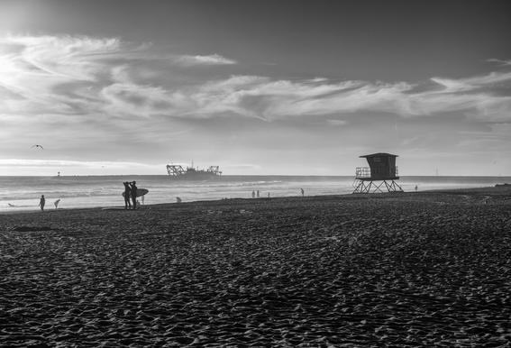 San Diego Surf -Acrylglasbild
