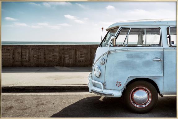 Wolfsburg Surf Blue Horizon -Poster im Alurahmen