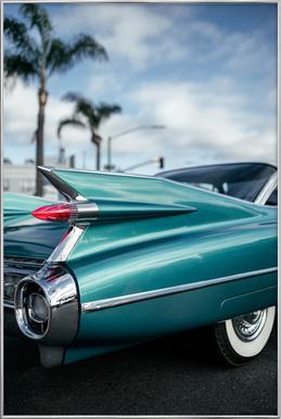 Cadillac Queen affiche sous cadre en aluminium