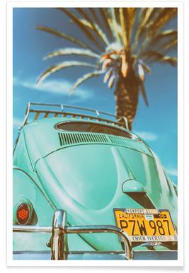 California Turquoise Poster