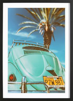 California Turquoise Framed Print