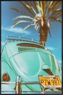 California Turquoise affiche encadrée