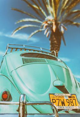 California Turquoise Impression sur alu-Dibond