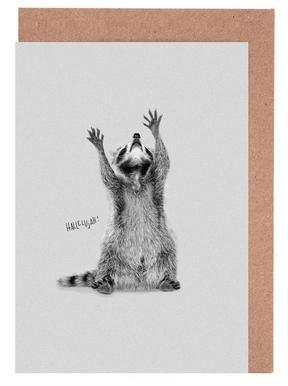 Racoon cartes de vœux