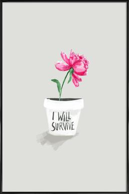 Survive Framed Poster