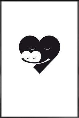 Heart Hug ingelijste poster