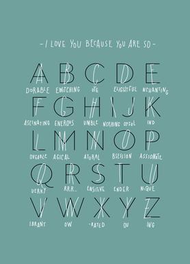 Alphabet of Love Canvas Print