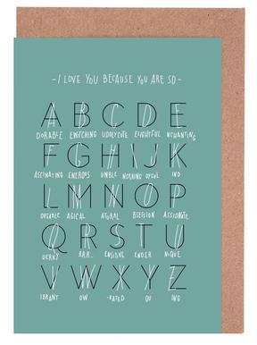 Alphabet of Love Greeting Card Set