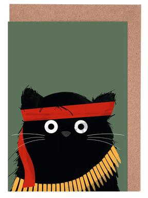 Cat - Rambo Greeting Card Set