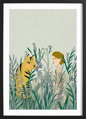 Look for Your Tiger Framed Print