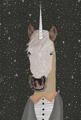 Unicorn Aluminium Print