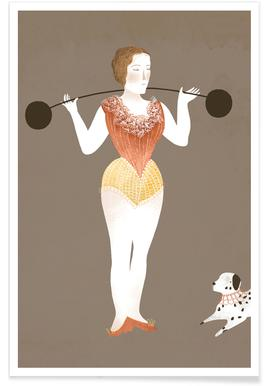 Circus Lady Poster