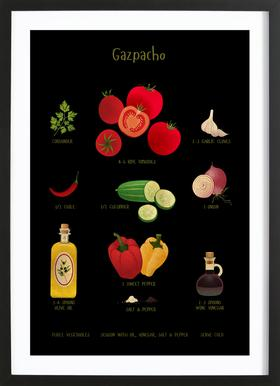 Gazpacho ingelijste print