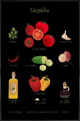 Gazpacho ingelijste poster
