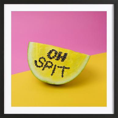 Oh, Spit! -Bild mit Holzrahmen