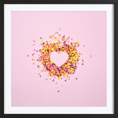 Hello Sweetheart -Bild mit Holzrahmen