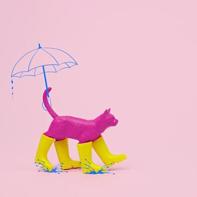 Puss in [Rain] Boots Acrylic Print