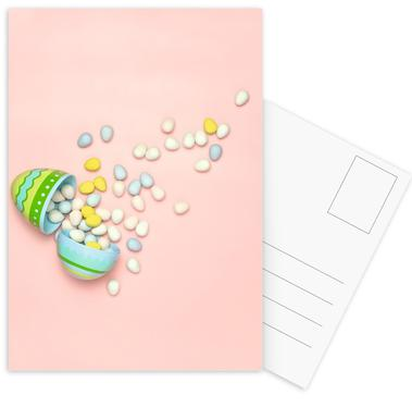 Easter Egg Spill Postcard Set