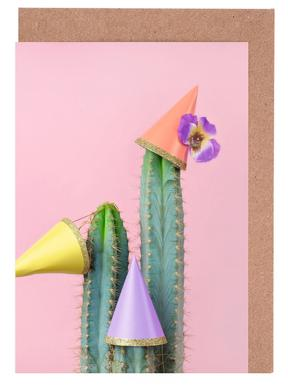 Cactus Party Hats Greeting Card Set