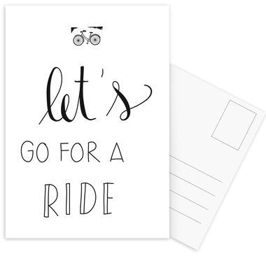 Ride -Postkartenset