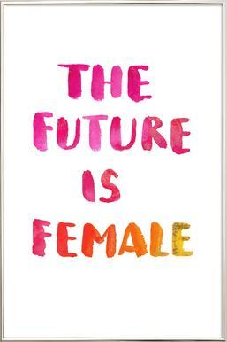 The Future Is Female poster in aluminium lijst