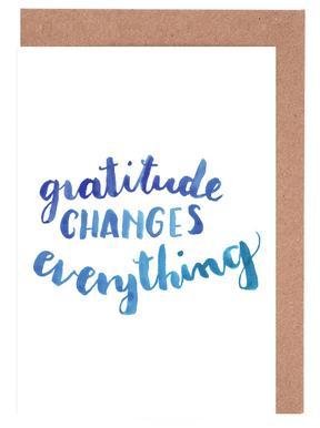 Gratitude cartes de vœux