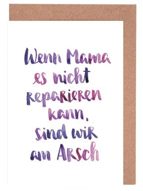 Mama 2 -Grußkarten-Set