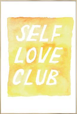 Self Love Club 2 Poster in Aluminium Frame