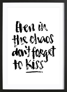 Don't Forget to Kiss Framed Print