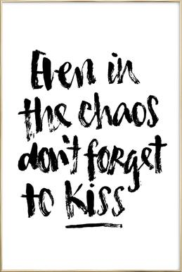 Don't Forget to Kiss Poster in Aluminium Frame