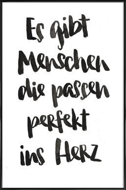 Perfekt ins Herz Framed Poster