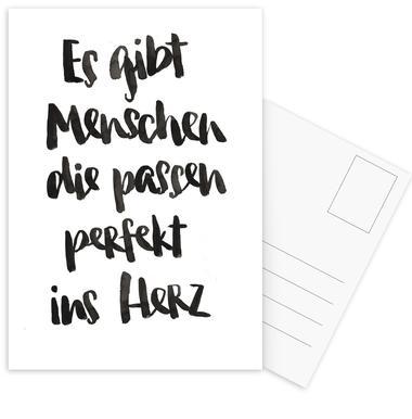 Perfekt ins Herz Postcard Set