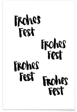 Frohes Fest -Poster