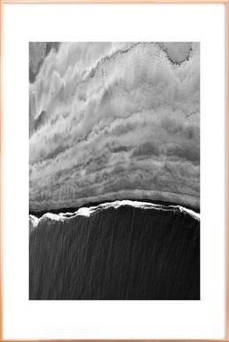 Black Ocean Poster in Aluminium Frame