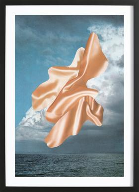 Sea Satin ingelijste print