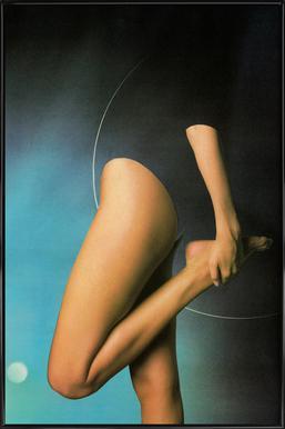 Stretch -Bild mit Kunststoffrahmen