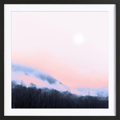 Smokey Pink - Affiche sous cadre en bois