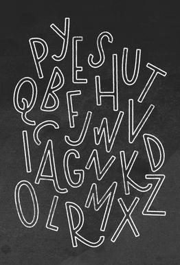 All the Letters Impression sur alu-Dibond