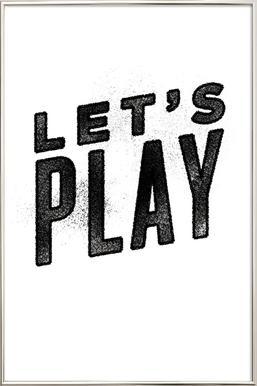 Let's Play affiche sous cadre en aluminium