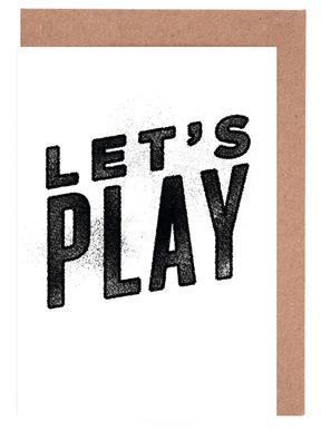 Let's Play cartes de vœux