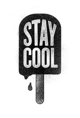 Stay Cool tableau en verre
