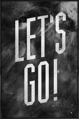 Let's Go affiche encadrée