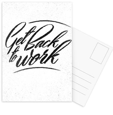 Back to Work -Postkartenset