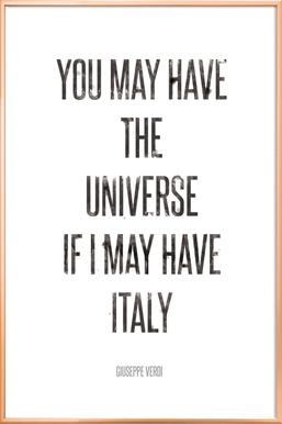Italy Poster in Aluminium Frame