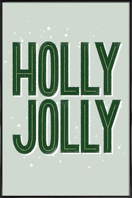 Holly Jolly Poster i standardram