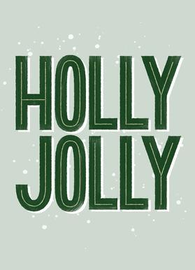 Holly Jolly Canvastavla