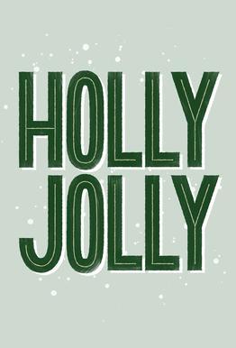 Holly Jolly Akrylglastavla