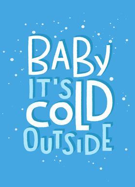 Cold Outside Canvas Print