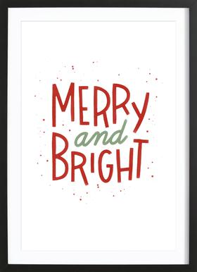 Merry And Bright Poster i träram